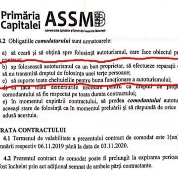 Directorul ASSMB și-a împrumutat BMW-ul instituției, ca să-l întrețină pe bani publici