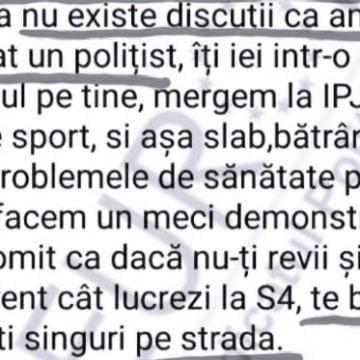 Un șef de poliție din Timiș, acuzat că își terorizează subalternii