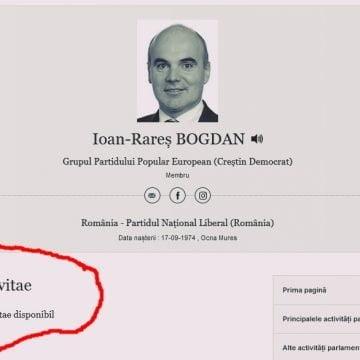 Rareș Bogdan a uitat să-și depună CV-ul la Parlamentul European