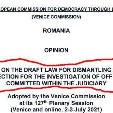 Comisia de la Veneția dă undă verde desființării Secției Speciale