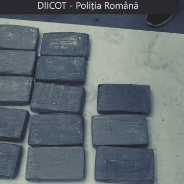 O jumătate de tonă de cocaină, găsită în baxuri de banane la Chiajna